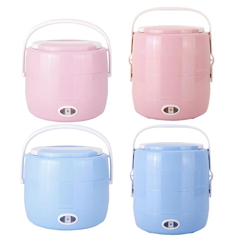 Portable Single/Dual Layer Electric Heating Lunch Box 2L 230V 200W PTC Rice Cooker Steamer Food Warmer Container Thermal Box portable 12v car electric heating lunch box rice cooker food warmer 1 05l 40w