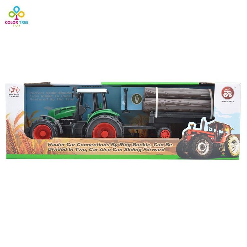 garons jouet ferme tracteur remorque de voiture camion de transport de bois jouet pour le cadeau