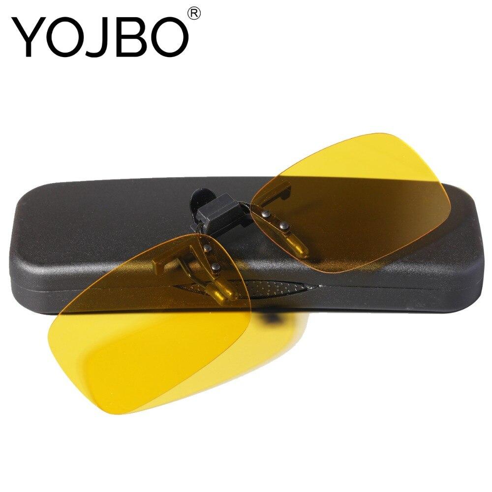 YOJBO Flip Up Clip Auf Sonnenbrille Nachtsicht Gläser Frauen Männer Designer Marke HD Polarisierte Gelb Driving Gläser Gafas De sol
