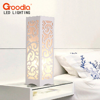 GOODIA Brand Creative Hollow Carved Decorative Desk Lamp Living Room Decor Table Lamp LED Bulb