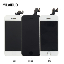 ФОТО full replacement lcd touch screen digitizer for iphone 5 5s se 5c+home button+front camera+ear speaker pre-assembled