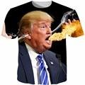 Camisa dos homens T 2016 Nova Moda Irritado Donald Trump 3D Tshirt 3D Impresso T-shirt Ocasional dos homens Homens Marca de Roupa Cinco Tamanho S-5XL
