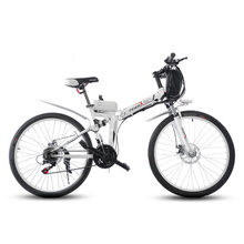 24″/26″Folding electric mountain bicycle lithium battery bikes electric bike battery bicycle Genuine freeshipping high quality