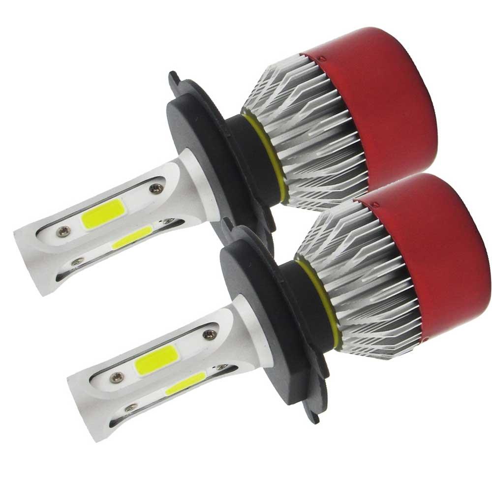 2 ədəd LED Headlight Light H4 Salam / Aşağı şüa LED COB Uzaq - Avtomobil işıqları - Fotoqrafiya 3