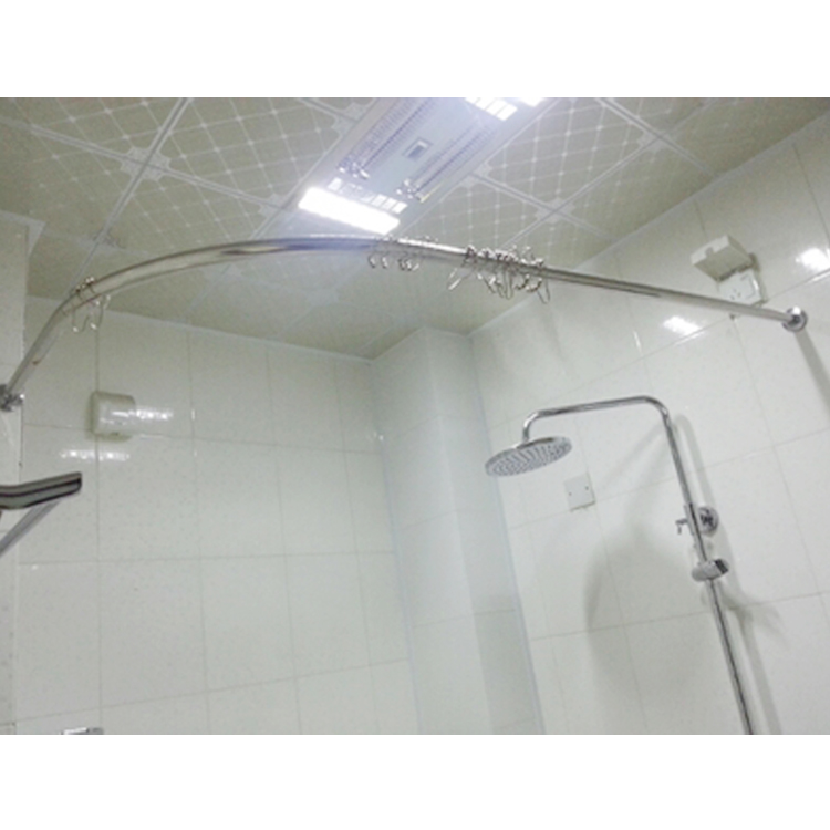 L Shaped Shower Curtain Rod Bathroom Suit Thick Curved 304 Stainless Steel U Type Feed Aperture Device Sector In Poles From Home