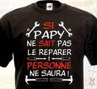 T-shirt Si Papy. Humour drôle Bricoleur Papi Grand père Cadeau idéal Surprise 2019 marque hommes meilleur vente décontracté t-shirt