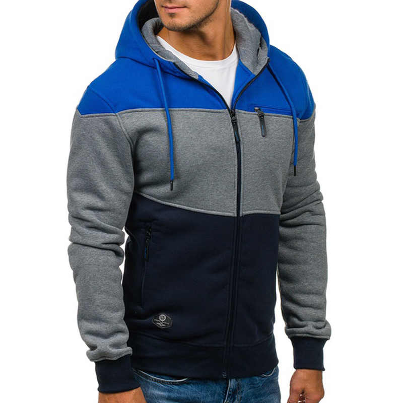 ZOGAA New Men s Fashion Hoodies Casual Hooded Sweatshirts For Men Clothes  2018 Color Block Leisure Jacket 827ab83e5