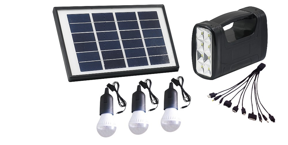 5W DC portable Solar home lighting system solar generator , 4AH ...