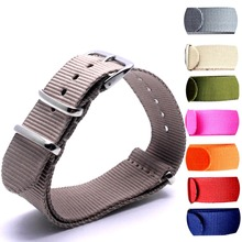 100PCS Heavy duty nylon straps 22mmNylon Watch band NATO strap zulu watch ring buckle