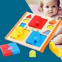 Holz Puzzles Bord Spielzeug Tangram Gehirn Kinder Puzzle Spielzeug Tetris Spiel Pädagogisches Baby Spielzeug Holz Geschenke Identifizieren Farben