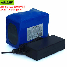 24V 10Ah 6S5P 18650 Battery Lithium Battery 25.2V 10000mAh Electric Bicycle Moped / Electric / Li-ion Battery Pack+ 1A Charger цена