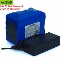24v 10ah 6s5p 18650 bateria de lítio 25.2v 10000mah bicicleta elétrica ciclomotor/elétrica/li ion bateria + carregador 1a