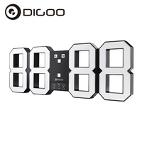 Digoo DC K3 Plus 18 Inch Digital Smart Alarm Clock Snooze Night Mode Remote Control Wall