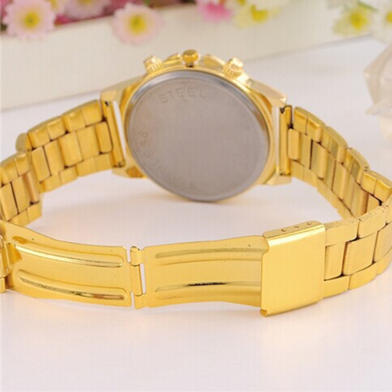 Dames luxe casual mode quartz horloge roestvrij staal horloges rose - Dameshorloges - Foto 6