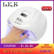 LKE SUN X Nail Dryer 48W 54W UV LED Lamp Nail Lamp Polish Machine For Gel Nail Polish Art Automatic Hand Sensor nail Art Tools цены