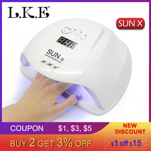 LKE SUN X Nail Dryer 48W 54W UV LED Lamp Nail Lamp Polish Machine For Gel Nail Polish Art Automatic Hand Sensor nail Art Tools(China)