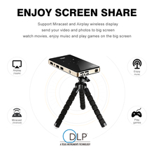 P09 dlp mini projector 2G 16G amlogic S905X 4K 2.4G 5.8G Wifi BT4.0 Home theater Smart android pocket projector proyector