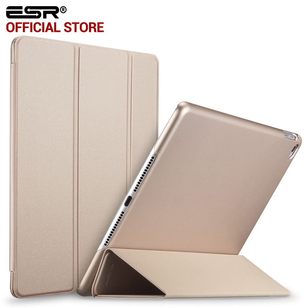 Case for iPad Air 2, ESR Rubber Cover Ultra Slim Fit PU Leather Smart Case Rubberized Back Cover for iPad 6 for iPad Air 2 ocube tri fold ultra slim tpu silicon back folio stand holder pu leather case cover for apple ipad 6 ipad air 2 9 7 tablet