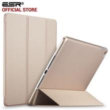 Caso para el ipad de Aire 2, Cubierta De Goma ESR Ultra Slim Fit PU Caso Elegante de Cuero de Goma de La Contraportada para el ipad 6 para iPad Aire 2