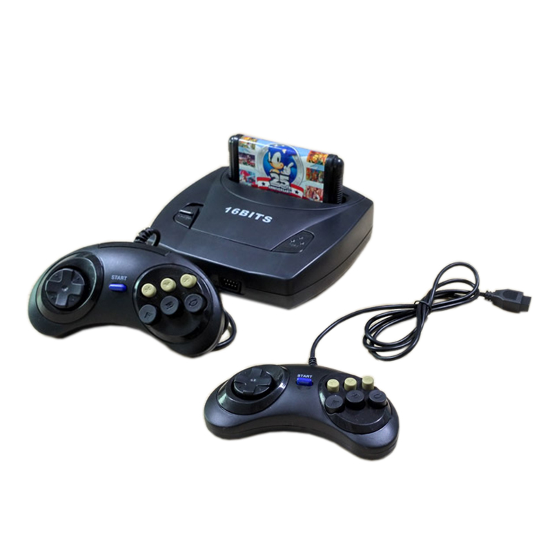 16 Bit Sega MD3 video game console game player built in games support cartridge