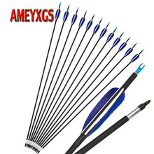 9/12pcs 32 Archery Spine700 Carbon Arrow OD 7mm Composite  Fiberglass Shaft For Bow Hunting Shooting Accessories