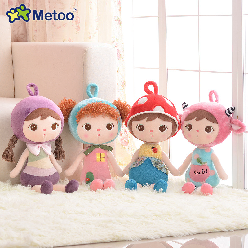 45cm Plush Sweet Cute Lovely Stuffed Baby Kids Toys for Girls Birthday Christmas Gift Cute Girl Keppel Baby Doll Metoo Doll 8 inch plush cute lovely stuffed baby kids toys for girls birthday christmas gift tortoise cushion pillow metoo doll