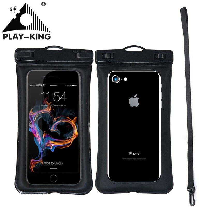 Funda Universal de teléfono a prueba de agua para iPhone X, 8, 7, 6 y 5, funda de natación para teléfono, bolsa de aire flotante para teléfono 6