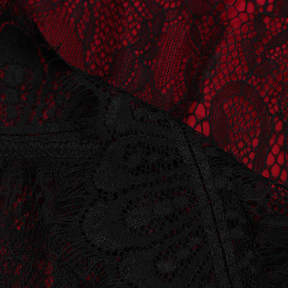 TELOTUNY Vestito Dalla Signora SPlus Formato Delle Donne Senza Maniche In Pizzo Lungo Da Sera Del Partito di Promenade Convenzionale del Vestito Delle Donne Vestito Da Modo Caldo di Nuovo jan19