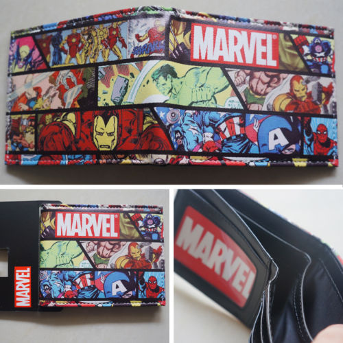 2018 New Marvel Comics LOGO Hero collection wallets Purse Leather Man women W064