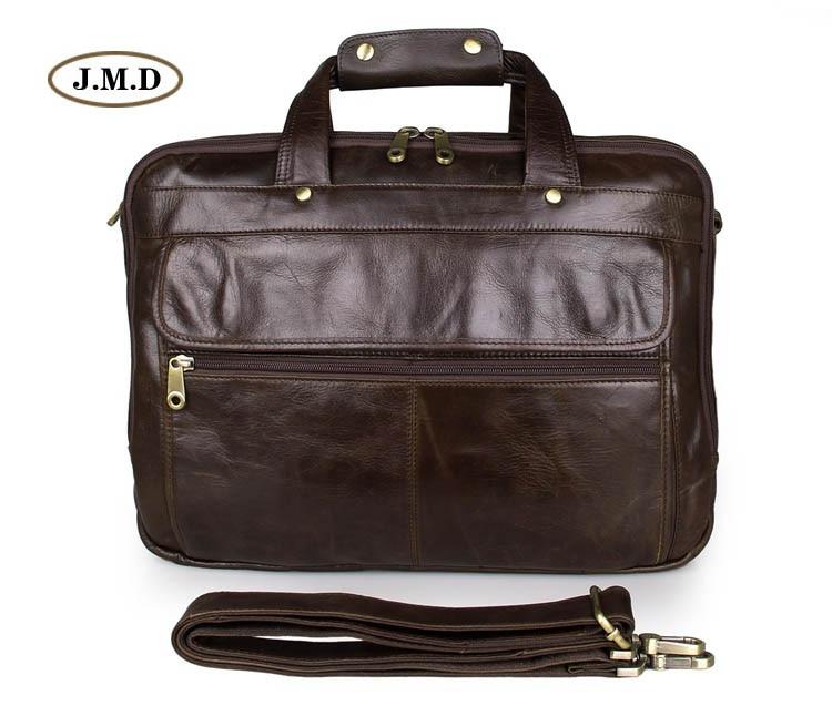 100% Genuine Cow Leather Unique Design Men's Fashion Large Capacity Briefcase Handbag Messenger Bag Shoulder Bag 7146Q