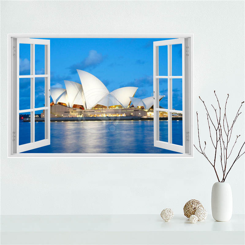 YJ606w4 Custom Sydney Opera House Canvas Painting Wall