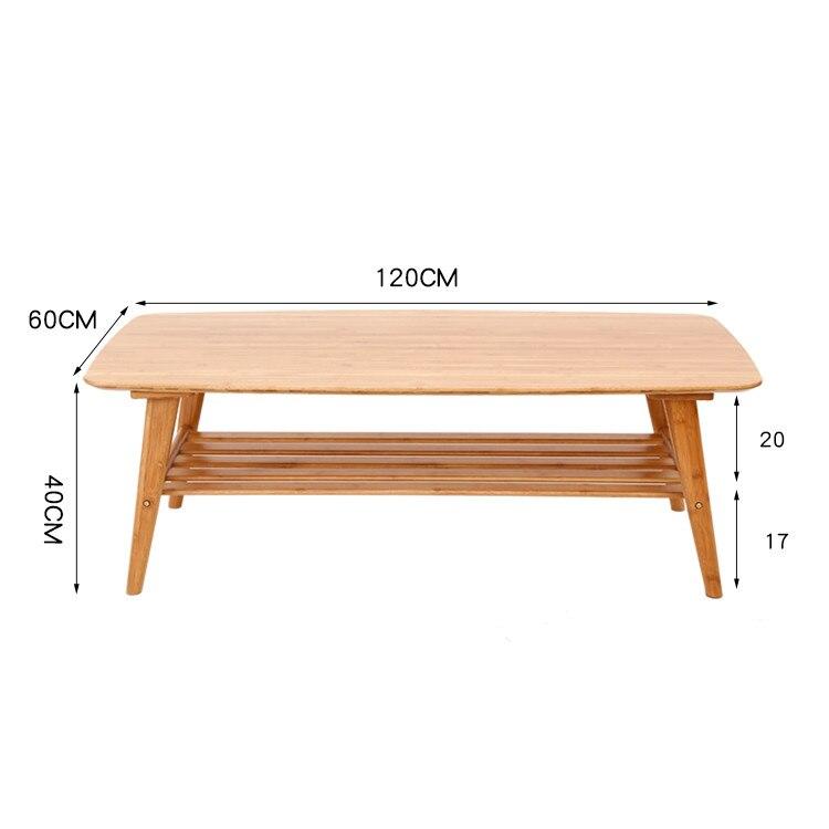 Современные Кофе Таблица Бамбуковая мебель Гостиная прямоугольник низкий Чай центр стола Дизайн крытый диван сбоку bamboo стол с полкой