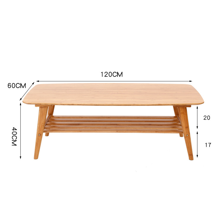 Modern Coffee Table Bamboo Furniture Living Room Rectangle ...