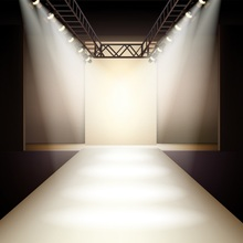 Laeacco Spotlight Model Catwalk Stage Scene Photography Backgrounds Portrait Photographic Vinyl Backdrops For Photo Studio