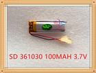 Liter energy battery 3.7V polymer lithium battery 361030 100MAH 401030 MP3 MP3 Bluetooth headset small toy recording pen 351030
