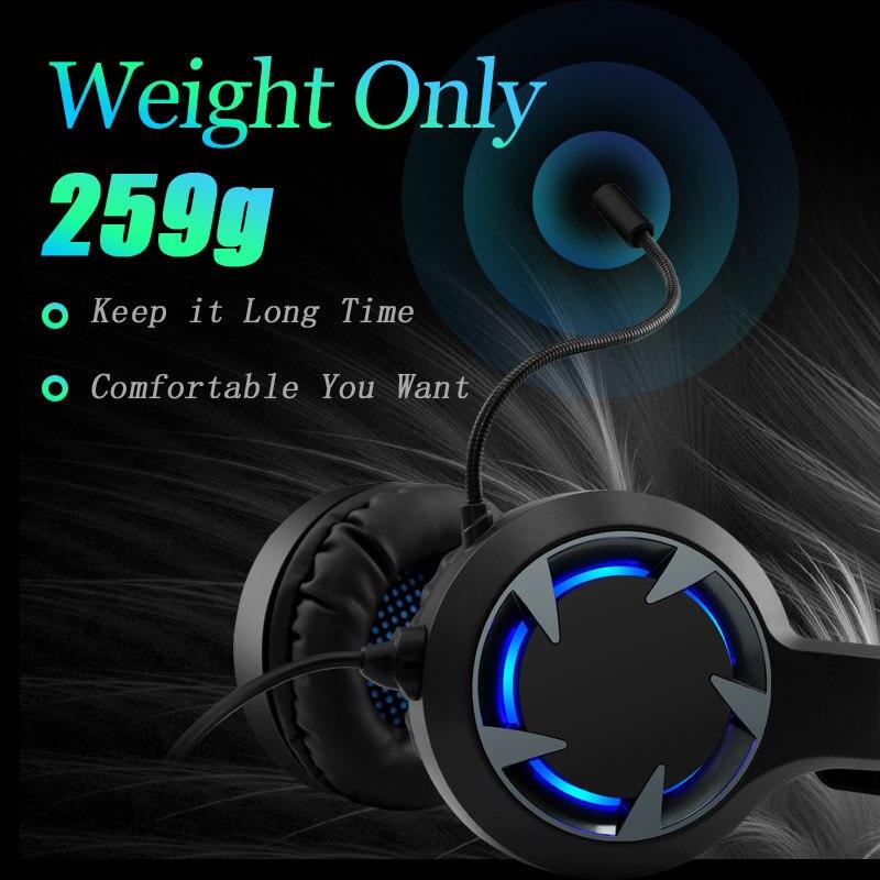 תאורה אחורית Gaming סטריאו אוזניות גיימר אוזניות עמוק בס Wired אוזניות עם מיקרופון תאורה אחורית עבור מחשב נייד PC PS4 טלפון X-BOX 7.1 ערוץ Hifi (2)