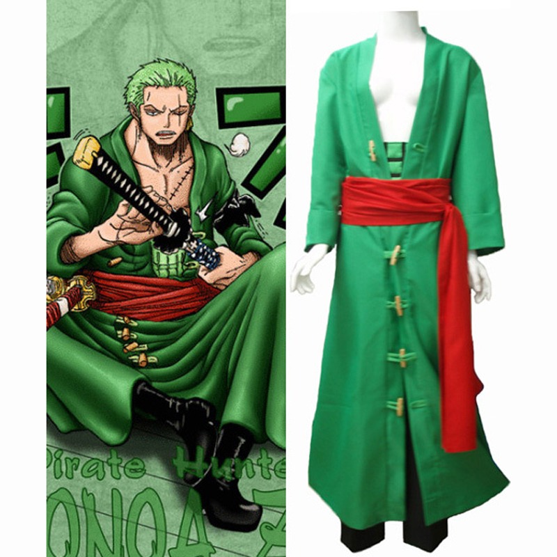 Anime One Piece Zoro After 2 years Cosplay Uniform Suit Full Set Men's Halloween Costumes Custom-made Free Shipping