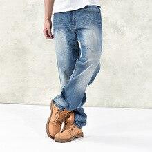 Осень зима свободные размера плюс мешковатые джинсы хип хоп широкие ноги удобные Паркур уличная одежда джинсовые штаны длинные брюки мужские