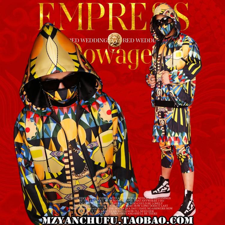 New 3D dicetak pria batu hip-hop DS street dance hoodied klub malam - Pakaian Pria - Foto 2
