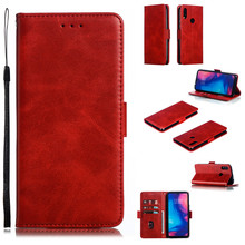 Luxury Flip Leather Phone Case For Xiaomi Redmi Note 7 Wallet Card Solid color Cover Pro