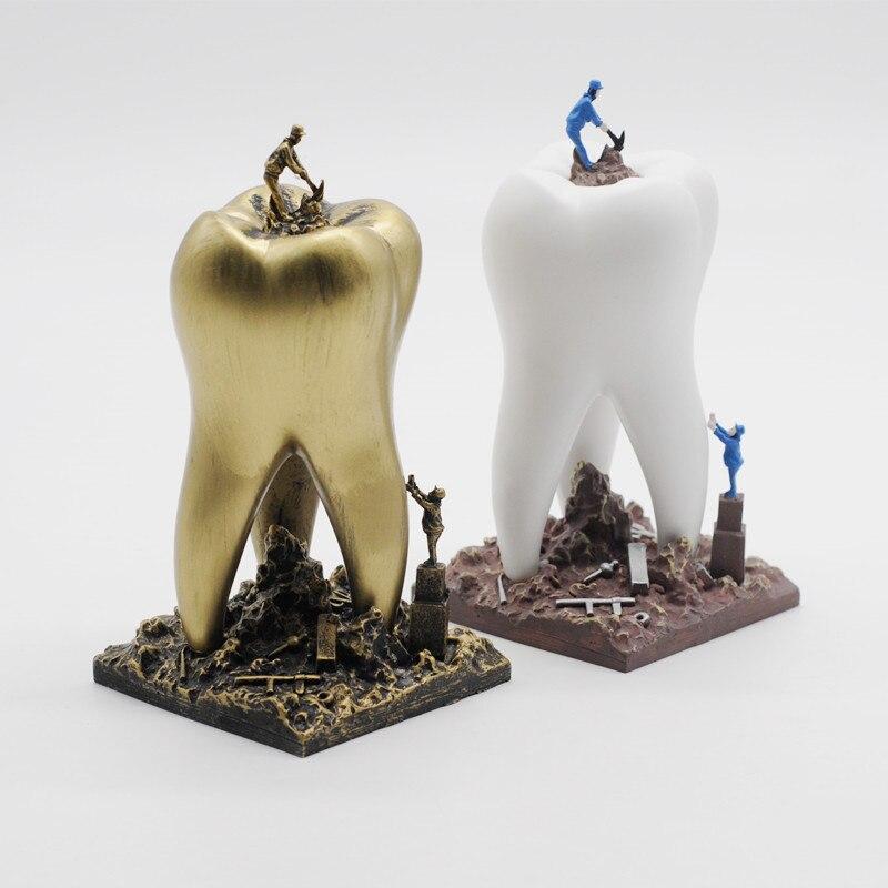 Dentisterie clinique décoration ameublement Articles créatif Sculpture dentiste cadeau résine artisanat jouets dentaire Artware dents artisanat