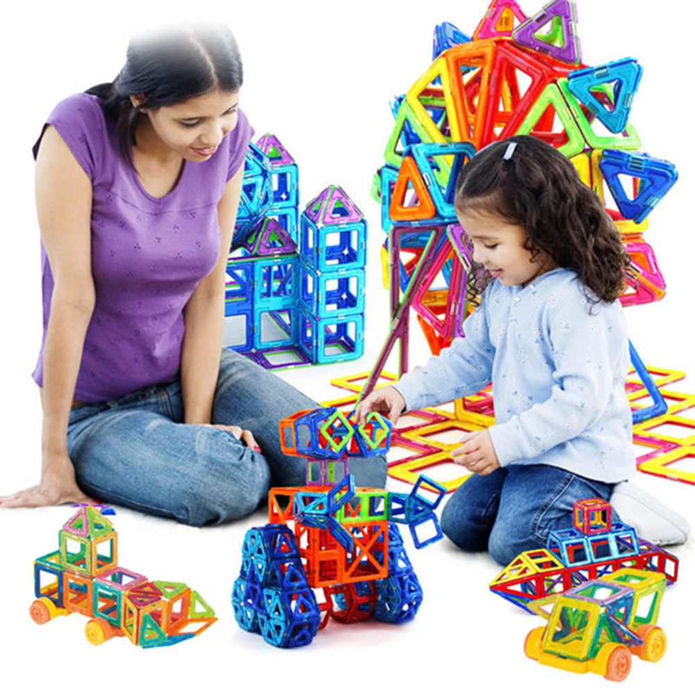 Mini 158Pcs Magnetic Construction Model Building Blocks Toys DIY 3D Magnetic Designer Educational Brick Children New Year Gift espeon 214 pcs mini castle magnetic blocks building blocks kits 3d construction designer set children diy educational kids toys