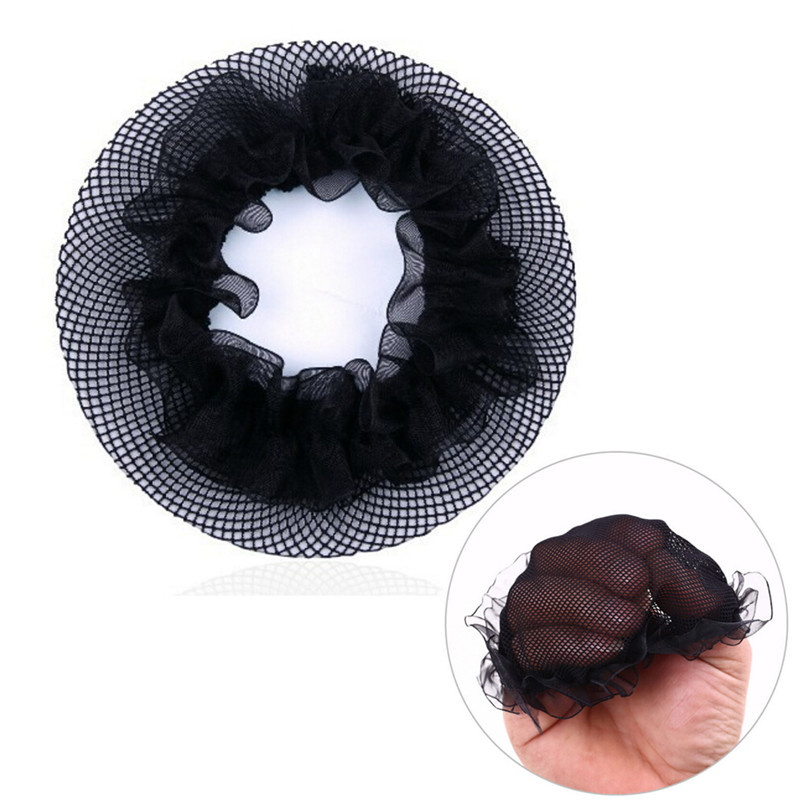 2Pcs Hair Nets Wigs Invisible Elastic Edge Mesh Hair Styling Hairnet Soft Lines For Dancing Sporting Hair Net Wigs Weaving Black