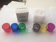 2 pçs/lote Evafun Tubo para TFV8 Bebê Grande Atomizador Tanque Pryex Vidro Substituição TFV8 Grande Do Bebê de Vidro 24.5*20.3mm Edição Padrão