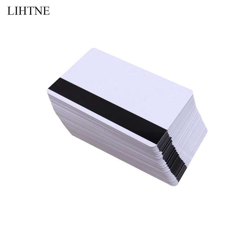 100PCS/lot 2750 OE Hi-Co Magnetic Stripe Card 3 Track Blank PVC Magnetic Cards winfeng 300pcs lot cmyk color customized 3 part plastic pvc combo loyalty cards membership cards with 3 small key tag card