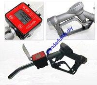 Fuel Gasoline Diesel Petrol Oil Delivery Gun Nozzle Elliptic Gear Flow Meter
