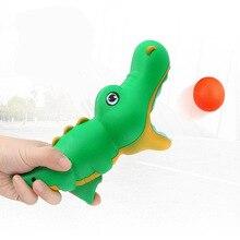 Hot Cartoon Ejection Gun Table Tennis Popper Toy Guns Shark Dolphin Dinosaur Catapult Butt Ball Launch The Ball Ping-Pong