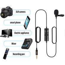 YC VM10 micrófono de solapa para grabación de Audio y vídeo de 6M para teléfono Android Mac Vlog Mic Lavalier micrófono iPhone DSLR Cámara videocámara