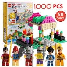 2019 NEW 1000Pcs Building Blocks City DIY Creative Bricks Model Friends Figures Technic Educational Toys for Children