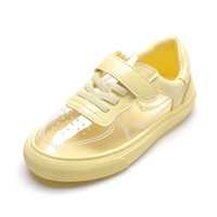 Girls Sneakers Kids Casual Flat Shoes Baby Toddler Girl Sneaker Breathable Pink Yellow White Shoes Super Fiber +Crystal 2019 New